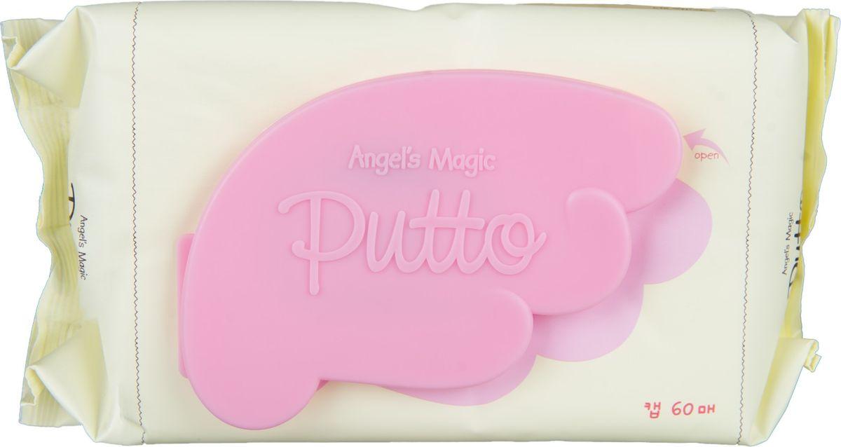 Putto Secret Салфетки детские влажные увлажняющие, 60 шт77G086201Удобная мягкая упаковка салфеток с пластиковой защелкой.Детские влажные салфетки содержат защитный компонент NHEB-05 (запатентованная формула для чувствительной кожи ПАТЕНТ № 10 -2008 - 0032798), В-глюкан и церамиды, обладают низким уровнем раздражающих факторов.Хорошо очищают, увлажняют сухую и чувствительную кожу, устраняют зуд.Влажные салфетки содержат компонент, способствующий заживлению кожных рубцов. Салфетки имеют очищающий, успокаивающий, увлажняющий эффекты для сухой, чувствительной и проблемной кожи. NHEB - 05 ( Natural Herb Extract Blend -05) Экстракты таких лекарственных трав как экстракт хауттюйнии сердцевидной, экстракт азиатского подорожника, экстракт будры плющевидной, экстракт вяза, экстракт шелковицы оказывают успокаивающее действие для сухой, чувствительной кожи, устраняют зуд, а также увлажняют и питают детскую чувствительную кожу.ЦЕРАМИДЫ - важнейший липидный компонент клеточной мембраны. Являются мощным защитным барьером для кожи, восстанавливают липиды кожи. В наибольшей степени церамиды предотвращают потерю влаги предотвращают сухость и шелушение.БЕТА-ГЛЮКАН - природный компонент входящий в состав детских салфеток, который обеспечивает обильное увлажнение.Почему стоит купить салфетки Putto для своего ребенка?не требуется смывание водойнатуральные компонентыбез спиртабез воды (Композиция экстрактов трав вместо воды, увлажнение сохраняется в течение длительного времени)без консервантовбез красителейбез отдушеквсе компоненты протестированы и сводят к минимуму аллергические реакции. влажных салфеток:Для ежедневной гигиены очень сухой , чувствительной и склонной к атопическому дерматиту кожи. Для новорожденных , младенцев и детей.