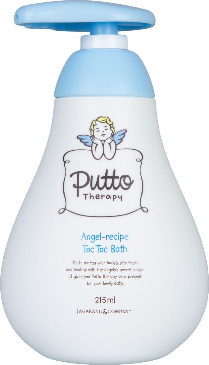 Putto Therapy Пена для ванны детская с капсулами toc-toc, 215 мл77H088040Пена для ванны детская с капсулами toc-toc Putto Therapy  состоит из 100% травяного экстракта вместо воды. Большие пузыри превратят ежедневную процедуру гигиены в веселую игру. Травяной экстракт MHB-4 состоящий из листа эриоботрии японской, девясила британского, горноколосника японского, японского бамбука бережно очищает, питает, увлажняет сухую кожу ребенка, избавляет от зуда. Не содержит спирт, красители, консерванты. Все компоненты протестированы и сводят к минимуму возникновение аллергических реакций.