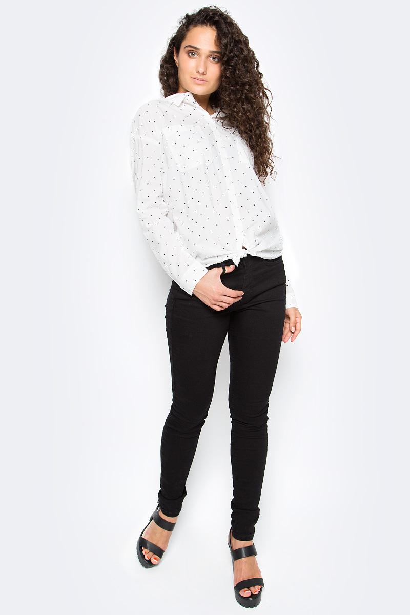 Рубашка женская Tom Tailor, цвет: белый. 2033605.00.71_8005. Размер XS (42)2033605.00.71_8005Женская рубашка Tom Tailor выполнена из натурального хлопка. Модель с отложным воротником и длинными рукавами застегивается на пуговицы, на груди дополнена двумя накладными кармашками.