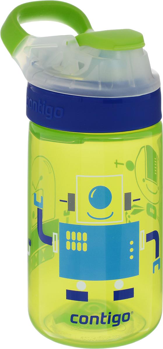Contigo Детская бутылочка для воды Gizmo Sip 420 мл цвет зеленый