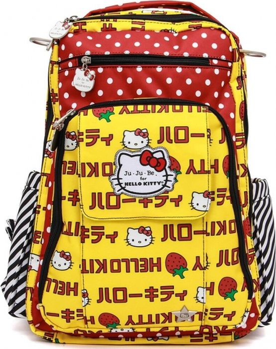 Ju-Ju-Be Рюкзак для мамы Right Back hello kitty Strawberry Stripes ju ju be bequick hello kitty peek a bow