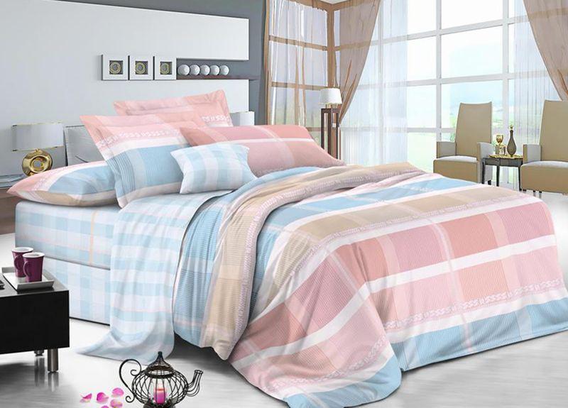 Комплект белья Primavera Classic. Аксиома, 2-спальный, наволочки 70x70, цвет: голубой95707