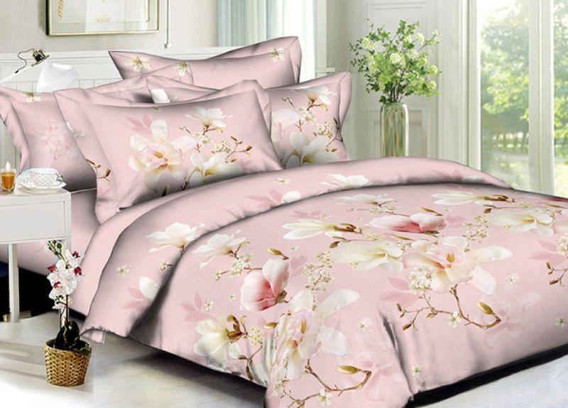 Комплект белья Primavera Classic. Розалин, семейный, наволочки 70x70, цвет: розовый95736Комплект постельного белья Primavera является экологически безопасным для всей семьи, так как выполнен из высококачественного сатина (100% хлопка). Комплект состоит из двух пододеяльников на молнии, простыни и двух наволочек. Постельное белье оформлено ярким узором и имеет изысканный внешний вид. Сатин - производится из высших сортов хлопка, а своим блеском и легкостью напоминает шелк. Постельное белье из сатина превращает жаркие летние ночи в прохладные и освежающие, а холодные зимние - в теплые и согревающие. Приобретая комплект постельного белья Primavera, вы можете быть уверенны в том, что покупка доставит вам и вашим близким удовольствие и подарит максимальный комфорт.