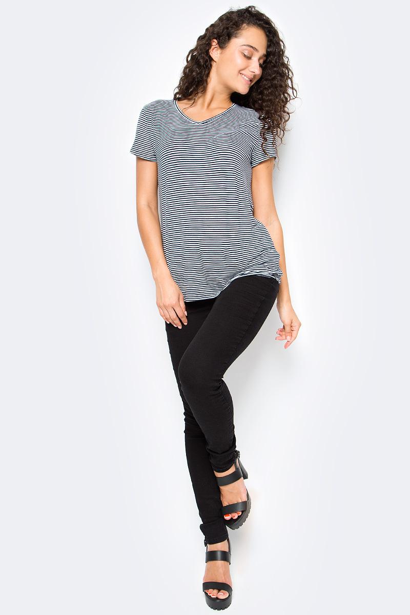 Джинсы женские Tom Tailor, цвет: черный. 6205820.09.71_1056. Размер 25-32 (40/42-32)6205820.09.71_1056Женские джинсы Tom Tailor выполнены из натурального хлопка. Модель зауженного кроя и средней посадки в поясе застегивается на пуговицу, имеются ширинка на молнии и шлевки для ремня. Джинсы имеют классический пятикарманный крой.