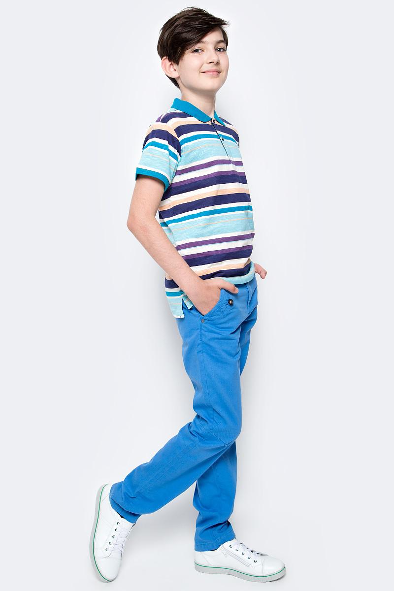 Поло для мальчика Sela, цвет: голубой. Tsp-811/1079-7213. Размер 146, 11 летTsp-811/1079-7213Стильная футболка-поло для мальчика Sela выполнена из натурального хлопка и оформлена принтом в полоску. Модель прямого кроя с удлиненной спинкой и разрезами по бокам застегивается на пуговицы до середины груди.Яркий цвет модели позволяет создавать стильные летние образы.