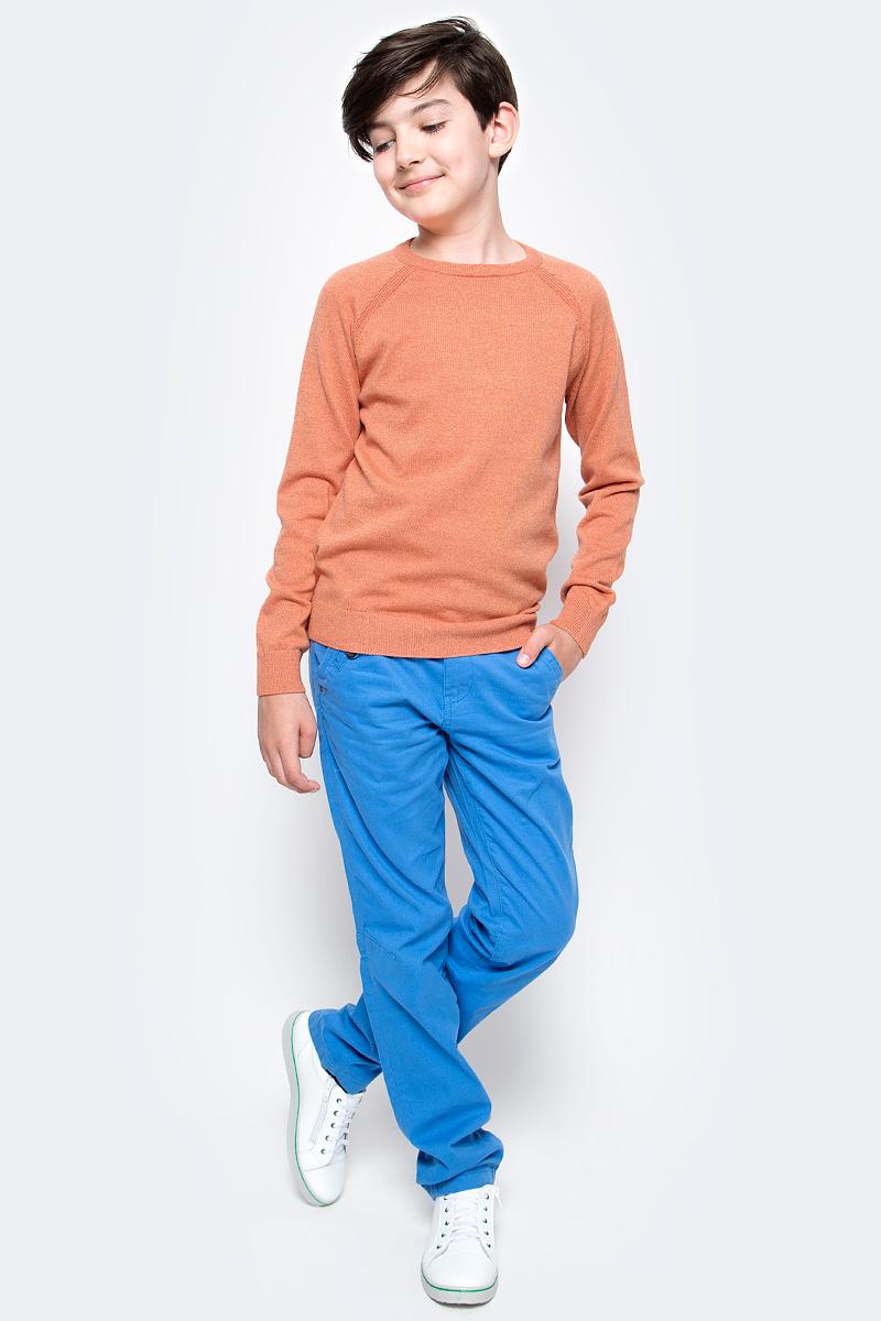 Джемпер для мальчика Sela, цвет: оранжевый. JR-814/281-7140. Размер 128, 8 лет цена