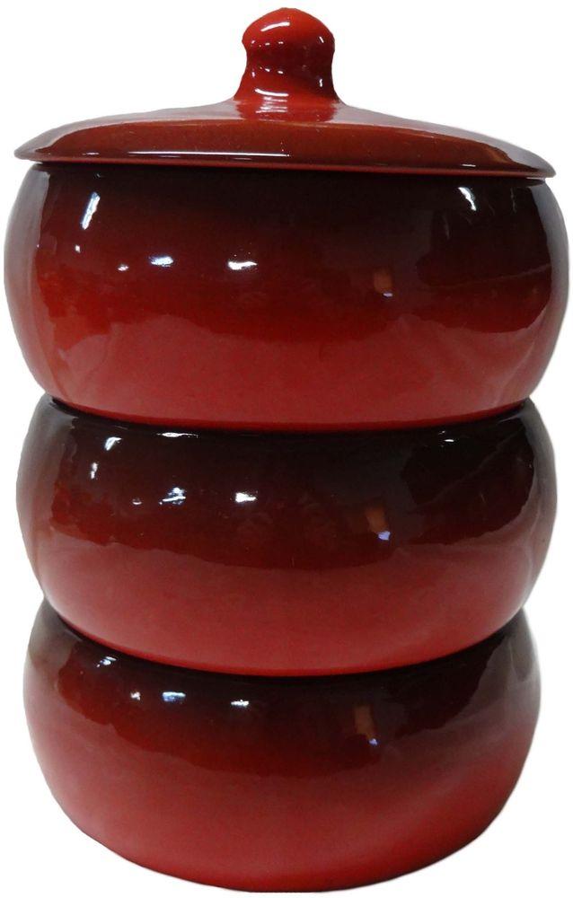 Набор столовой посуды Борисовская керамика Русский, цвет: бордовый, 4 предмета, 2,7 лКРС14456973Набор столовой посуды Борисовская керамика Русский состоит из трех мисок и крышки. Изделия выполнены извысококачественной глазурованной керамики. Внутреннее и внешнее покрытие изделий изготовлено изэкологически чистых природных материалов.Такой набор станет отличным подарком и обязательнопригодится в любом хозяйстве.