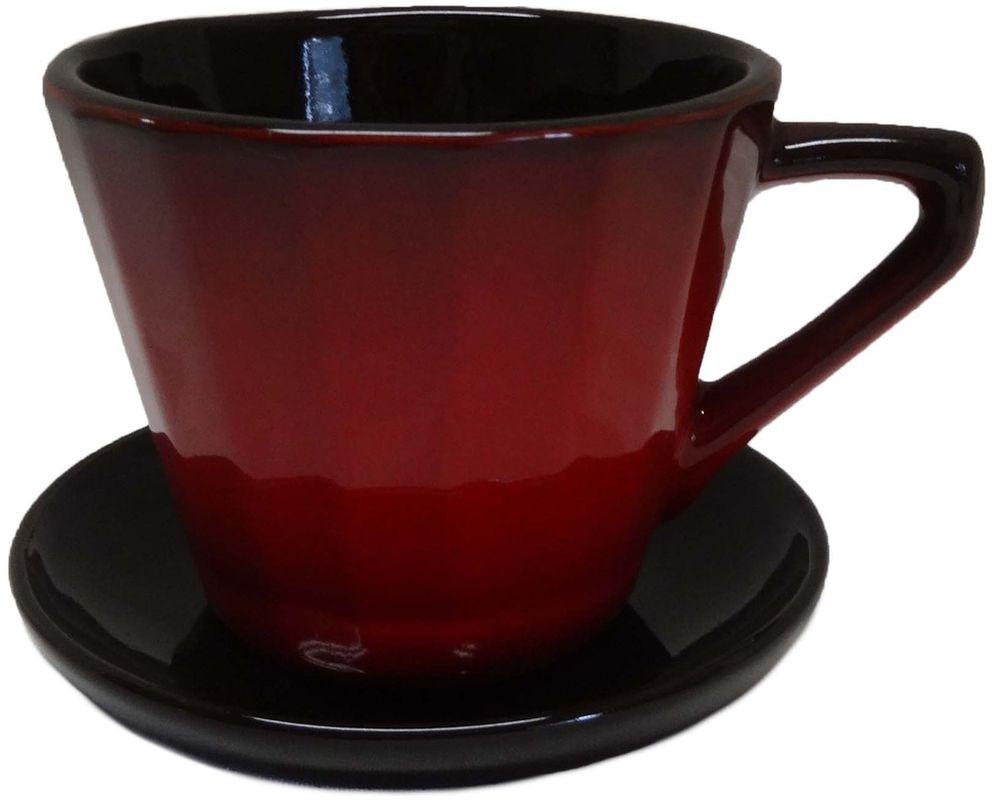 Чайная пара Борисовская керамика Ностальгия, 200 мл. КРС14458003КРС14458003Чашка Ностальгия №2 с блюдцем КРС14458003. Материал: Керамика. Объем: 0,2