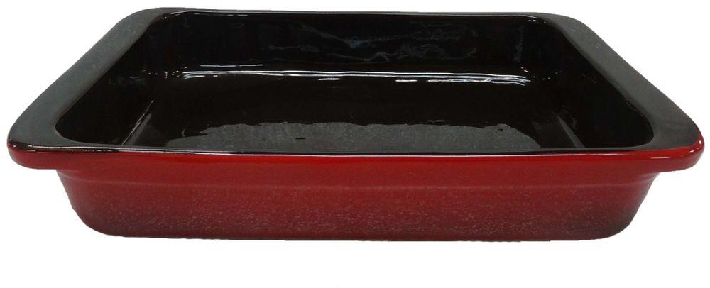 Форма для запекания Борисовская керамика Красный, 800 мл формы для запекания из керамики