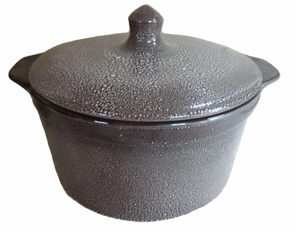 Кастрюля для запекания Борисовская керамика с крышкой, керамическая, 1 л