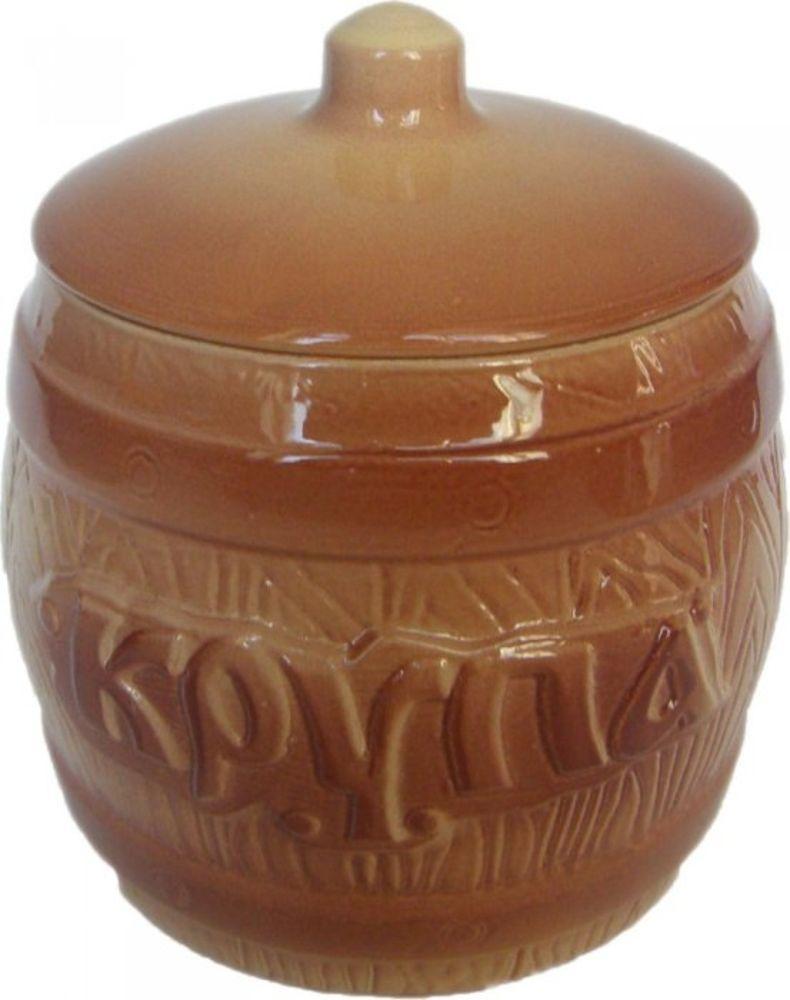 Банка для хранения Борисовская керамика Крупа, 1,2 лОБЧ00000304Бочонок Крупа ОБЧ00000304. Материал: Керамика. Объем: 1,2