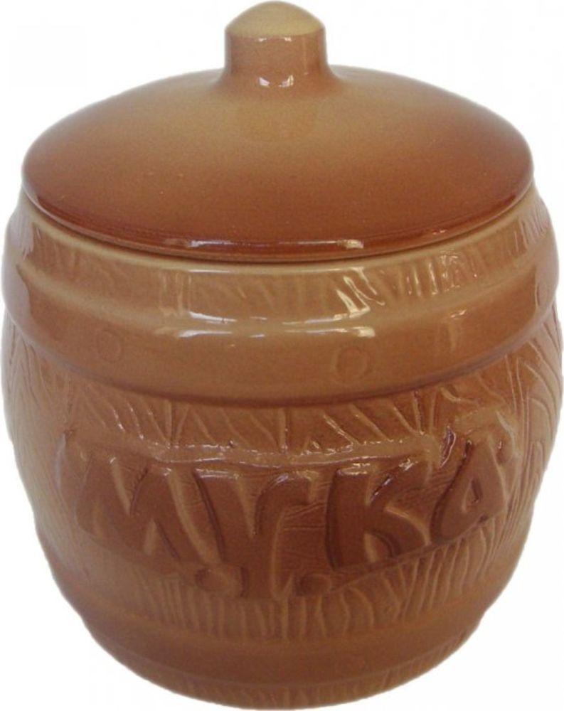 Банка для хранения Борисовская керамика Мука, 1,2 лОБЧ00000308Бочонок Мука ОБЧ00000308. Материал: Керамика. Объем: 1,2