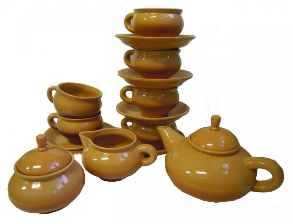 Набор чайный Борисовская керамика ОрнаментОБЧ00000551Чайный набор Орнамент прекрасно подойдет для вашей кухни и великолепно украсит стол. Изящный лаконичный дизайн и красочность оформления изделий придутся по вкусу и ценителям классики, и тем, кто предпочитает утонченность и изысканность в дизайне. Все изделия изготавливаются на современном оборудовании по новейшим технологиям и проходят строгий контроль качества. Состав: чайник 0,7 л - 1 шт, сахарница 0,35 л - 1 шт, сливочник 0,18 л - 1 шт, чашка с блюдцем 0,25 л - 6 шт.