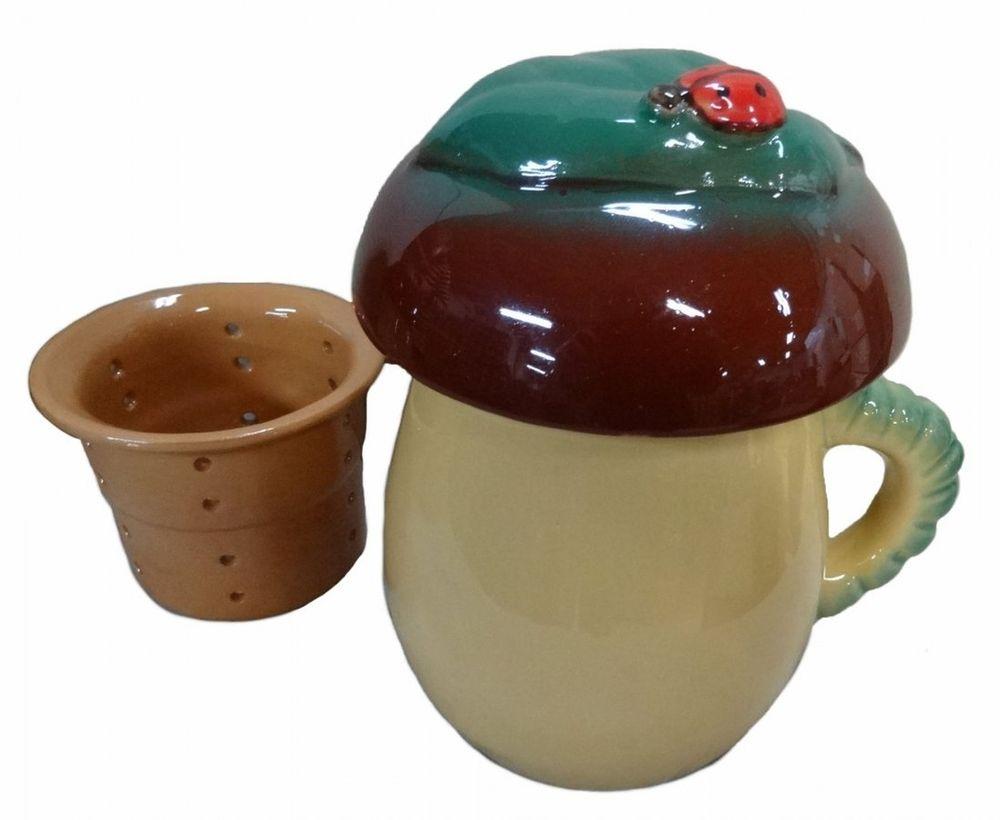 Чашка чайная Борисовская керамика Гриб, 450 мл чашка чайная борисовская керамика пион цвет оранжевый 300 мл