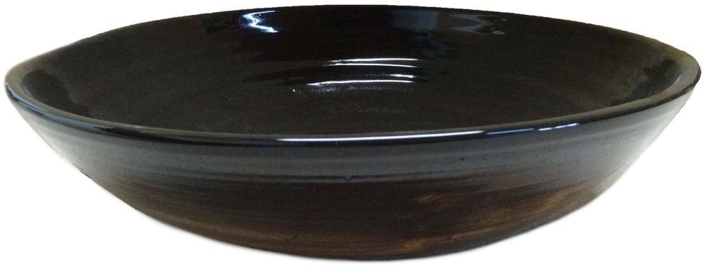 Салатник Борисовская керамика Стандарт, цвет: черный, 2,3 л салатник certified вино и виноград 14см 0 8л керамика