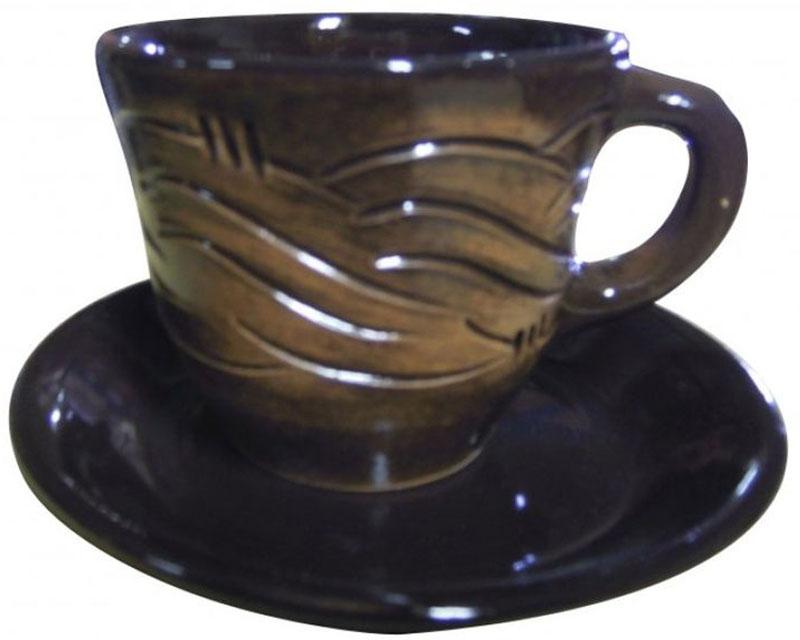 Чайная пара Борисовская керамика Старина, 300 млСТР00000639Чайная пара Борисовская керамика состоит из чашки и блюдца, изготовленных из высококачественной керамики. Такой набор украсит ваш кухонный стол, а также станет замечательным подарком к любому празднику. Можно использовать в микроволновой печи и духовке.