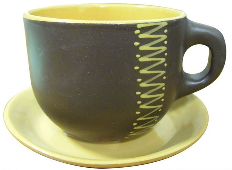 Чайная пара Борисовская керамика Чугун, 500 млЧУГ00000658Чашка Чайная с блюдцем ЧУГ00000658. Материал: Керамика. Объем: 0,5