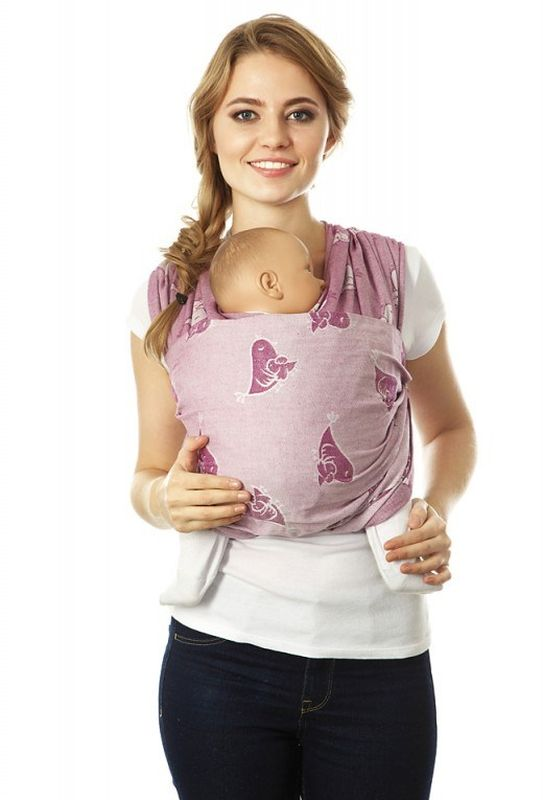 Mum's Era Слинг-шарф Птички цвет фуксия - Рюкзаки, слинги, кенгуру