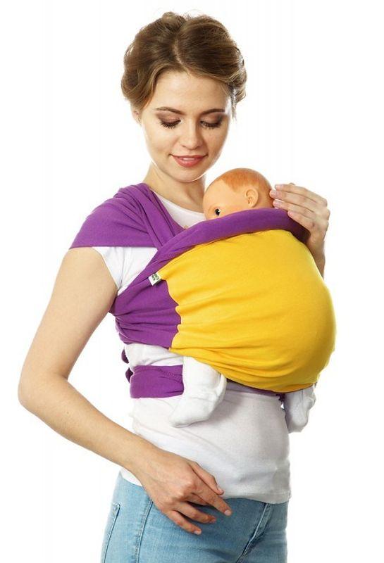 Mum's Era Слинг-шарф Фьюжн цвет фиолетовый желтый - Рюкзаки, слинги, кенгуру