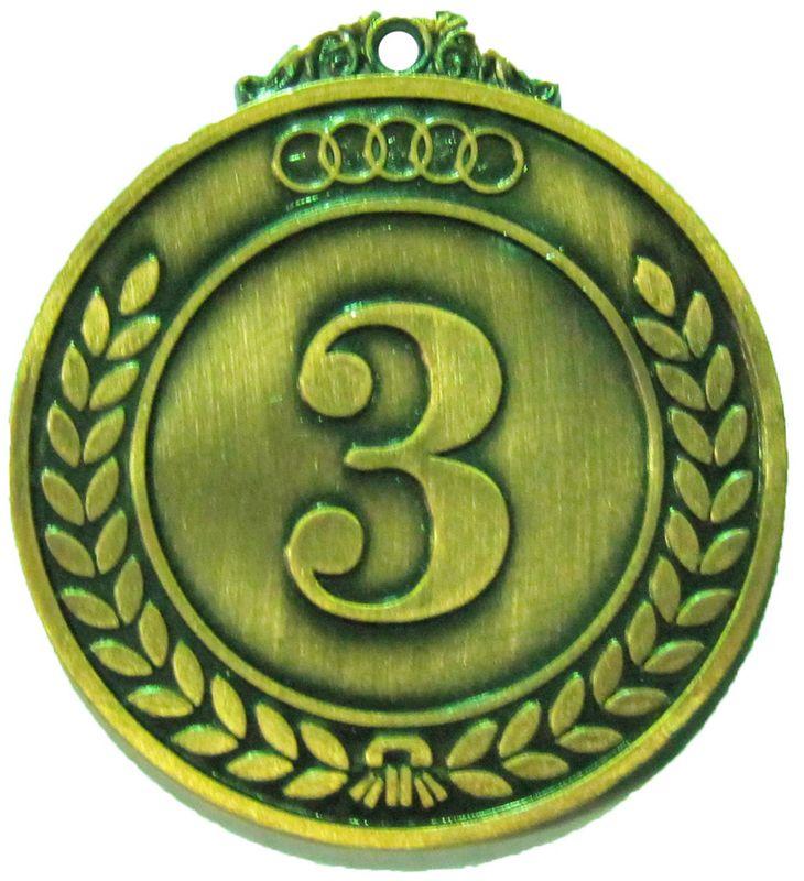 Медаль классическая Start Up, цвет: бронза, диаметр 5 см