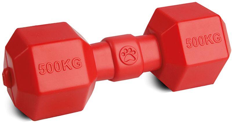 Игрушка для собак Грызлик Ам Гантелька. Аmfibios, цвет: красный, длина 19,5 см30.GR.014Материал ТPR, без звука, плавает