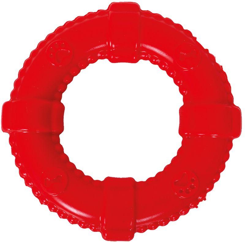 Игрушка для собак Грызлик Ам Кольцо. Аmfibios, цвет: красный, диаметр 13 см30.GR.016Игрушка для собак Грызлик Ам Кольцо. Аmfibios изготовлена из термопластичной резины, устойчивой к повреждениям. Игрушка поможет занять щенка во время смены зубов, а расшалившаяся взрослая собака не будет грызть мебель, обувь и другие нужные вещи. Изделие по всей поверхности снабжено объемными изображениями и небольшими шипами.