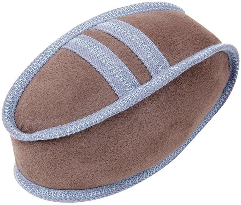 Игрушка для собак Грызлик Ам Мяч регби. Oxford, с пищалкой, цвет: бежевый, длина 21 см