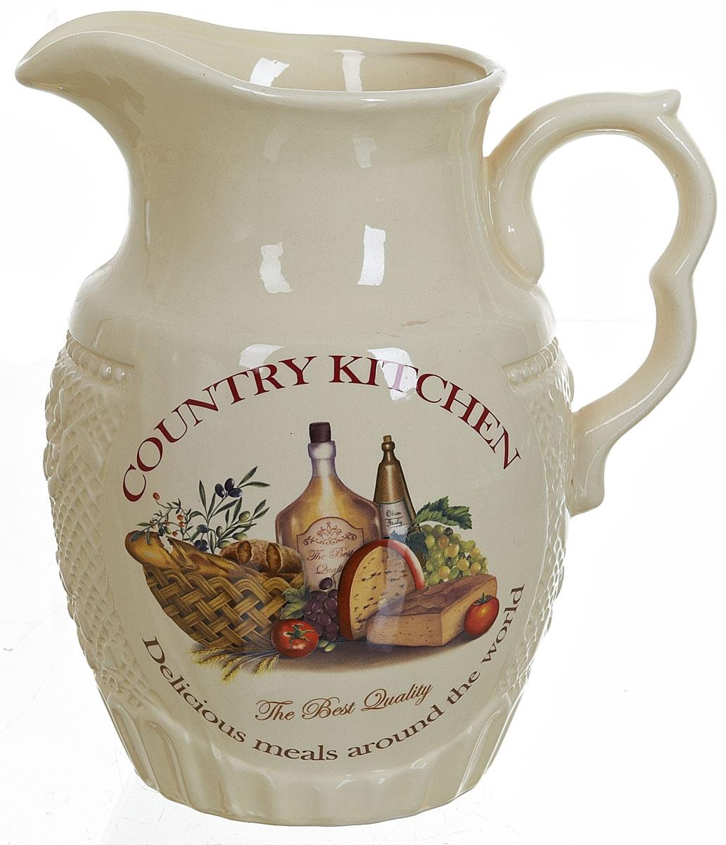 Кувшин Polystar Country Kitchen, 1,835 лL0210038Кувшин Country Kitchen изготовлен из высококачественной керамики с оригинальным рисунком. Кувшин оснащен удобной ручкой. Прекрасно подходит для подачи воды, сока, компота и других напитков. В подарочной упаковке. Изящный кувшин красиво оформит стол и порадует вас элегантным дизайном и простотой ухода.