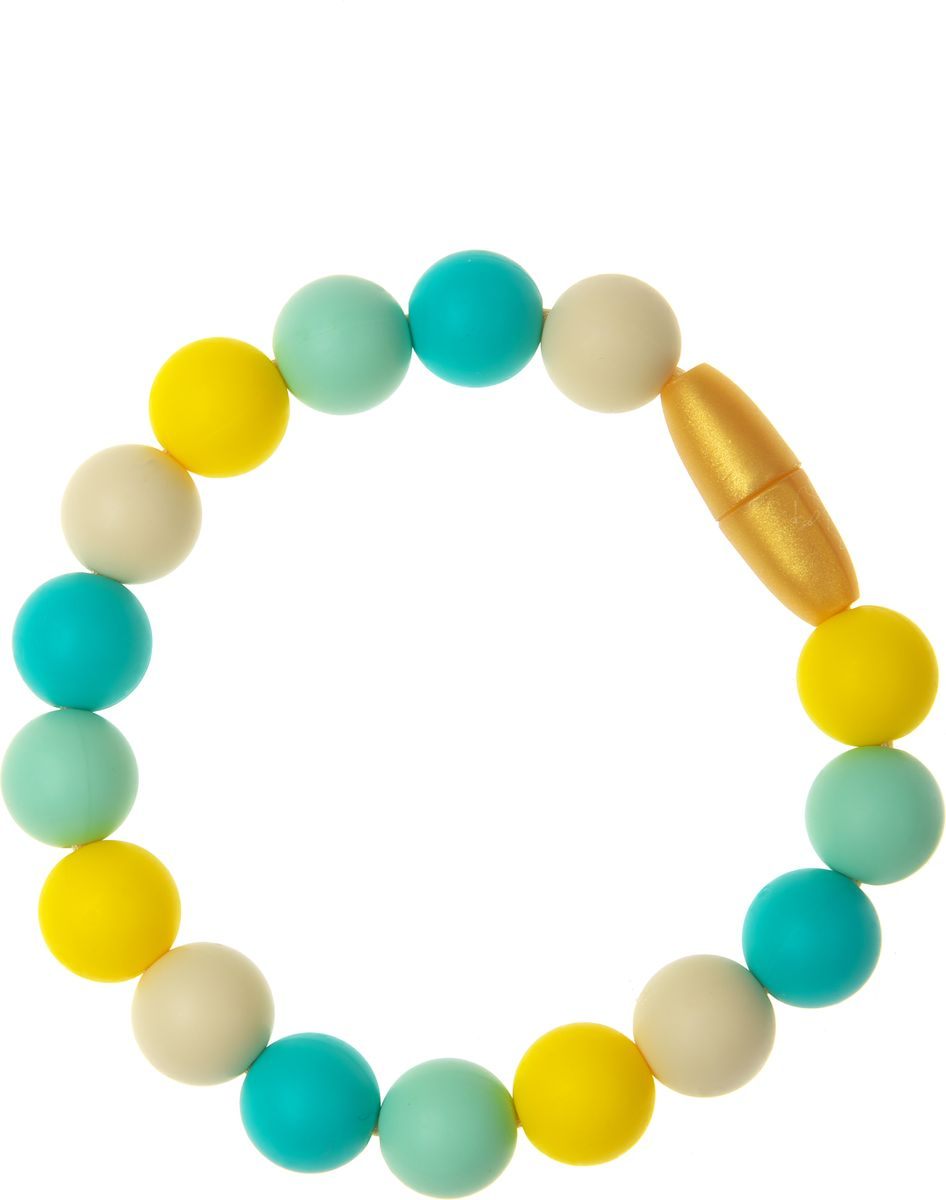 Фото МАМидея Браслет-прорезыватель Майя цвет бирюзовый