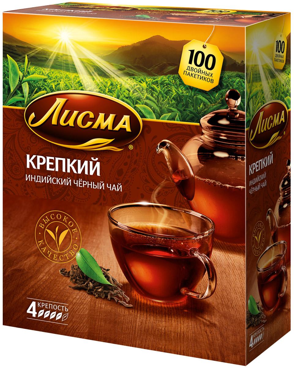 Лисма Крепкий черный чай в пакетиках, 100 шт принцесса канди цейлон черный чай в пакетиках 100 шт