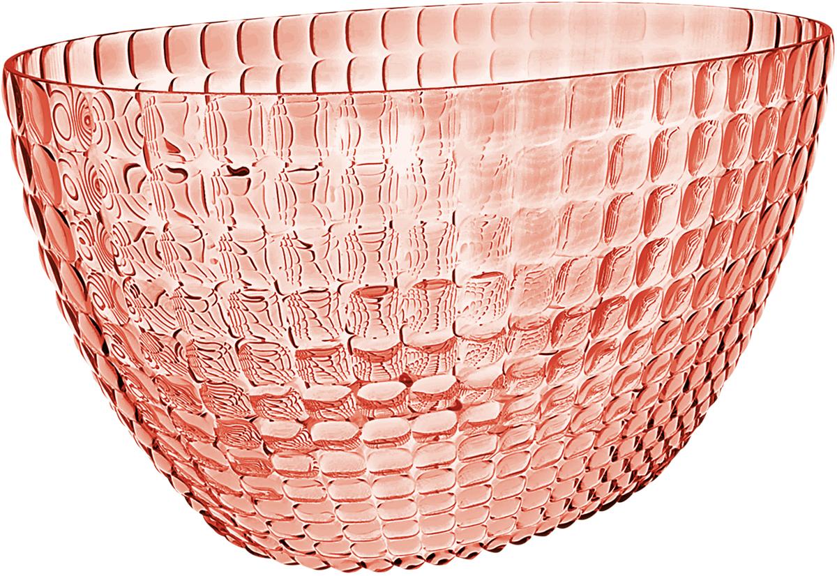 Ведерко для шампанского Guzzini Tiffany, цвет: коралловый19930023Ведерко для шампанского - это общепризнанный символ праздника и один изглавных предметов сервировки на столе. Оно подчеркиваетторжественную атмосферу, привлекает взгляды гостей и украшает своимприсутствием любой вечер. Дизайн ведерка Tiffany отличаетсяоригинальной рельефной формой, которая в сочетании с прозрачнымматериалом заставляет поверхность сверкать и переливаться на свету. Изготовлено из высококачественного органического стекла, устойчивого кизносу и повреждениям. Ведерко представляет собой расширяющийся кверху овал и может вместитьсразу две бутылки белого вина. Прямой и ровный край гарантирует,что ведерко не треснет, если бутылка ударится о его стенку. Яркий,функциональный и привлекательный предмет для вечеринок с друзьями,семейных праздников и торжественных мероприятий.Не содержит вредных примесей и бисфенола-А.Моется вручную.