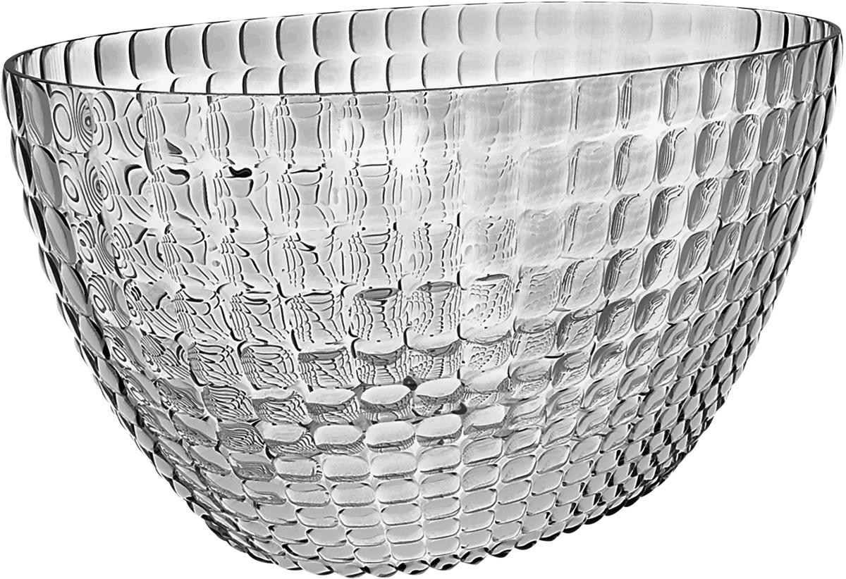 Ведерко для шампанского Guzzini Tiffany, цвет: серый19930092Ведерко для шампанского - это общепризнанный символ праздника и один из главных предметов сервировки на столе. Оно подчеркиваетторжественную атмосферу, привлекает взгляды гостей и украшает своим присутствием любой вечер. Дизайн ведерка Tiffany отличаетсяоригинальной рельефной формой, которая в сочетании с прозрачным материалом заставляет поверхность сверкать и переливаться на свету. Изготовлено из высококачественного органического стекла, устойчивого к износу и повреждениям. Ведерко представляет собой расширяющийся кверху овал и может вместить сразу две бутылки белого вина. Прямой и ровный край гарантирует,что ведерко не треснет, если бутылка ударится о его стенку. Яркий, функциональный и привлекательный предмет для вечеринок с друзьями,семейных праздников и торжественных мероприятий.Не содержит вредных примесей и бисфенола-А.Моется вручную.