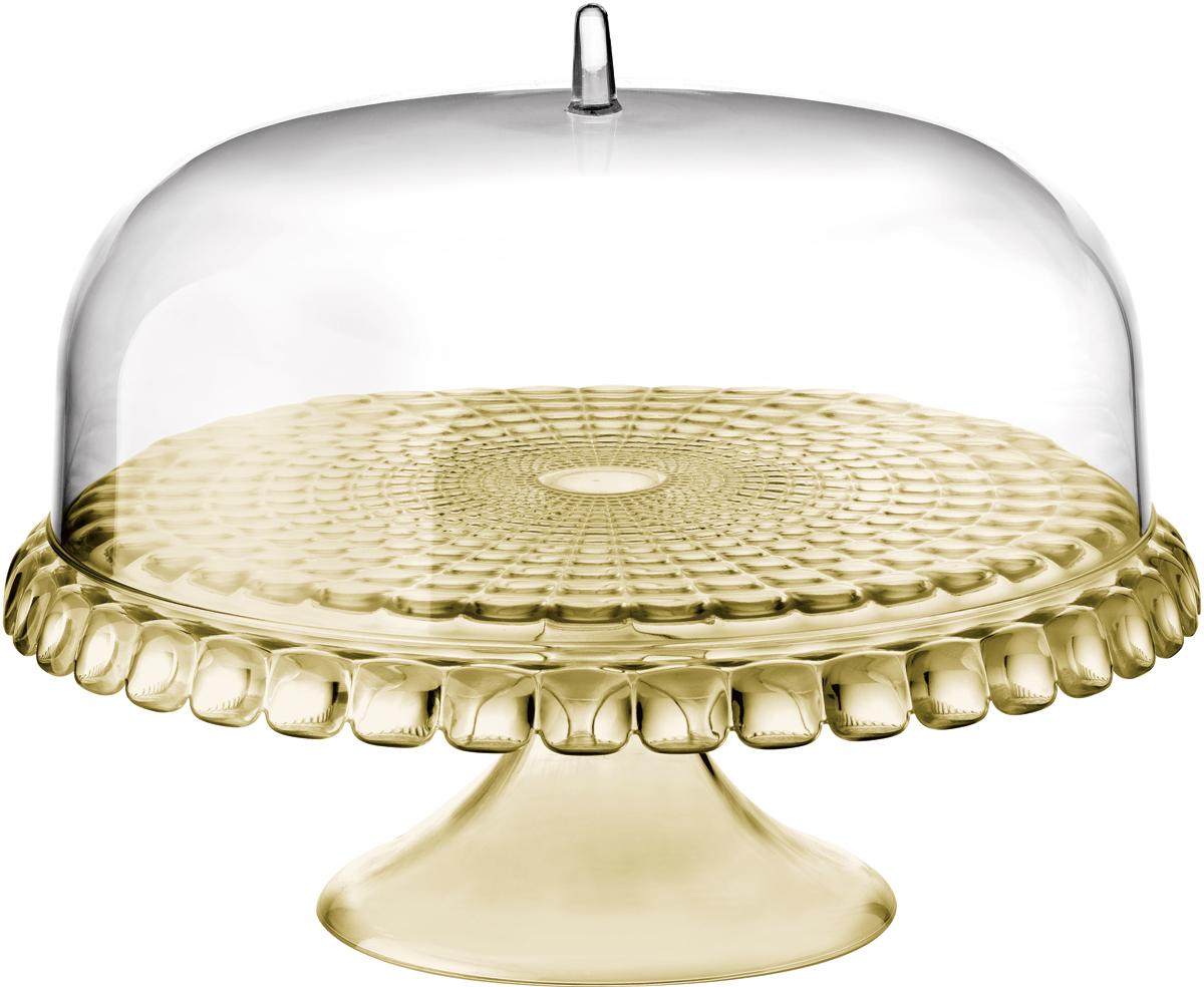 Тортовница Guzzini Tiffany, цвет: песочный, диаметр 36 см19940039Тортовница Guzzini Tiffany с прозрачной крышкой в форме купола украсит собой любой праздничный стол или чаепитие на открытом воздухе. Дизайн предмета отличается оригинальной рельефной формой, которая в сочетании с прозрачным материалом заставляет поверхность сверкать и переливаться на свету.Тортовница идеально подойдет для подачи выпечки, сладостей, небольших закусок и, конечно, тортов. Крышка защитит продукты от заветривания, насекомых и других внешних факторов, что особенно важно для дачной или уличной сервировки. Изготовлена из высококачественного органического стекла, устойчивого к износу и повреждениям. Не содержит вредных примесей и бисфенола-А. Моется вручную.