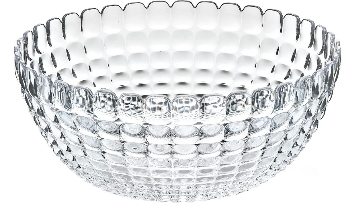 Салатник Guzzini Tiffany, цвет: прозрачный, 3 л21382500Элегантный салатник Guzzini Tiffany станет настоящим украшением любого стола. Его можно использовать не только для салатов, но также для подачи фруктов, выпечки и различных угощений. Идеально подходит для сервировки на свежем воздухе - рельефная форма в сочетании с прозрачным материалом заставляет поверхность сверкать и переливаться на свету. Органическое стекло, из которого изготовлен салатник, характеризуется легкостью и устойчивостью к износу. Не содержит вредных примесей и бисфенола-А. Можно мыть в посудомоечной машине.