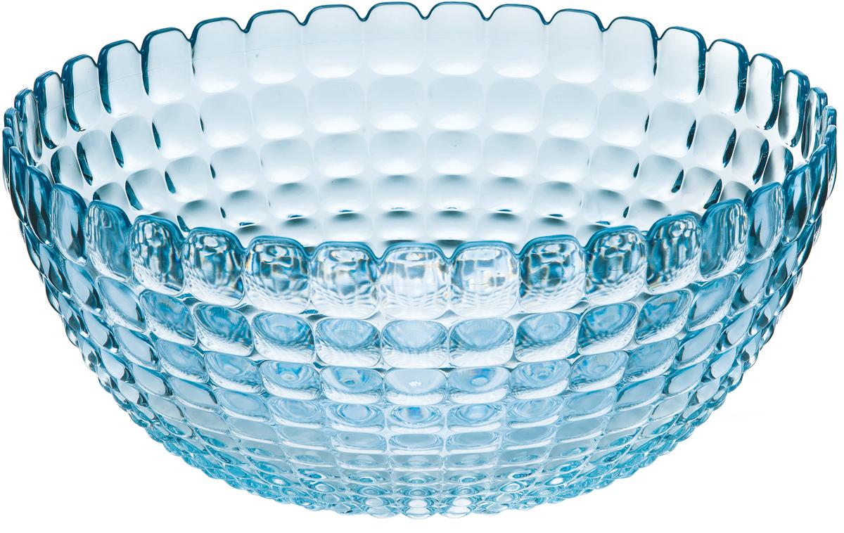 """Элегантный салатник Guzzini """"Tiffany"""" станет настоящим украшением любого стола. Его можно использовать не только для салатов, но также для подачи фруктов, выпечки и различных угощений. Идеально подходит для сервировки на свежем воздухе - рельефная форма в сочетании с прозрачным материалом заставляет поверхность сверкать и переливаться на свету. Органическое стекло, из которого изготовлен салатник, характеризуется легкостью и устойчивостью к износу.  Не содержит вредных примесей и бисфенола-А. Можно мыть в посудомоечной машине."""