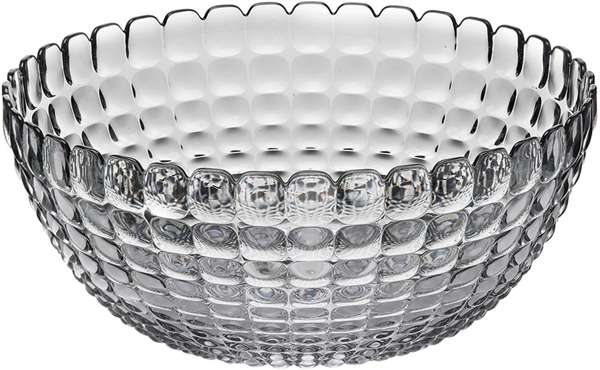 Салатница Guzzini Tiffany, цвет: серый, размер L, 3 л21382592Яркая и нарядная салатница Tiffany станет настоящим украшением любого стола. Её можно использовать не только для салатов, но так же для подачи фруктов, выпечки и различных угощений. Идеально подходит для сервировки на свежем воздухе - рельефная форма в сочетании с прозрачным материалом заставляет поверхность сверкать и переливаться на свету. Объем - 3 л. Органическое стекло, из которого изготовлена салатница, характеризуется легкостью и устойчивостью к износу. Не содержит вредных примесей и бисфенола-А. Можно мыть в посудомоечной машине.
