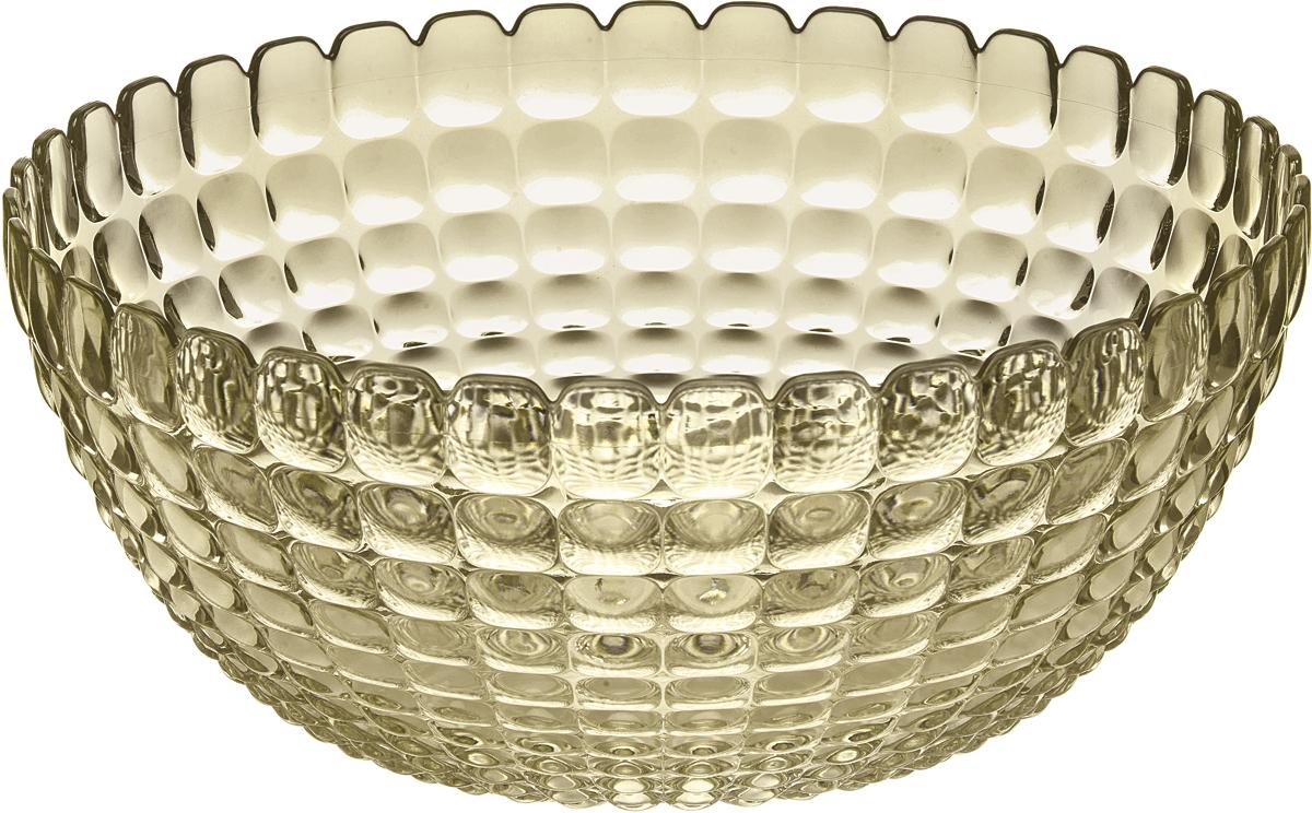 Салатница Guzzini Tiffany, цвет: песочный, размер XL, 5 л21383039Яркая и нарядная салатница Tiffany станет настоящим украшением любого стола. Её можно использовать не только для салатов, но так же для подачи фруктов, выпечки и различных угощений. Идеально подходит для сервировки на свежем воздухе - рельефная форма в сочетании с прозрачным материалом заставляет поверхность сверкать и переливаться на свету. Объем - 5 л. Органическое стекло, из которого изготовлена салатница, характеризуется легкостью и устойчивостью к износу. Не содержит вредных примесей и бисфенола-А. Можно мыть в посудомоечной машине.