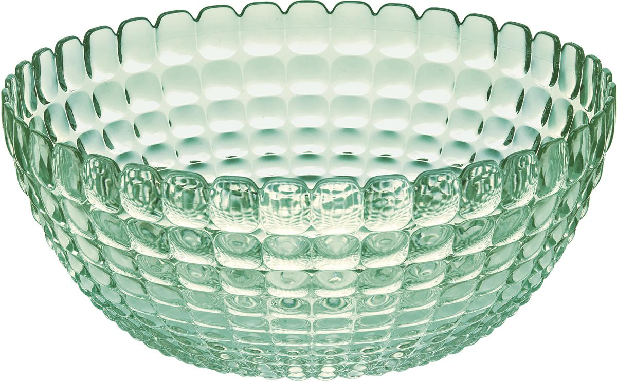 Салатница Guzzini Tiffany, цвет: зеленый, размер XL, 5 л21383060Яркая и нарядная салатница Tiffany станет настоящим украшением любого стола. Её можно использовать не только для салатов, но так же для подачи фруктов, выпечки и различных угощений. Идеально подходит для сервировки на свежем воздухе - рельефная форма в сочетании с прозрачным материалом заставляет поверхность сверкать и переливаться на свету. Объем - 5 л. Органическое стекло, из которого изготовлена салатница, характеризуется легкостью и устойчивостью к износу. Не содержит вредных примесей и бисфенола-А. Можно мыть в посудомоечной машине.