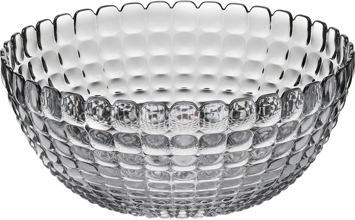Салатница Guzzini Tiffany, цвет: серый, размер XL, 5 л21383092Яркая и нарядная салатница Tiffany станет настоящим украшением любого стола. Её можно использовать не только для салатов, но так же для подачи фруктов, выпечки и различных угощений. Идеально подходит для сервировки на свежем воздухе - рельефная форма в сочетании с прозрачным материалом заставляет поверхность сверкать и переливаться на свету. Объем - 5 л. Органическое стекло, из которого изготовлена салатница, характеризуется легкостью и устойчивостью к износу. Не содержит вредных примесей и бисфенола-А. Можно мыть в посудомоечной машине.
