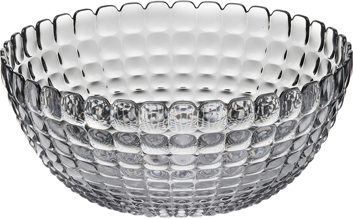 Салатник Guzzini Tiffany, цвет: серый, 5 л