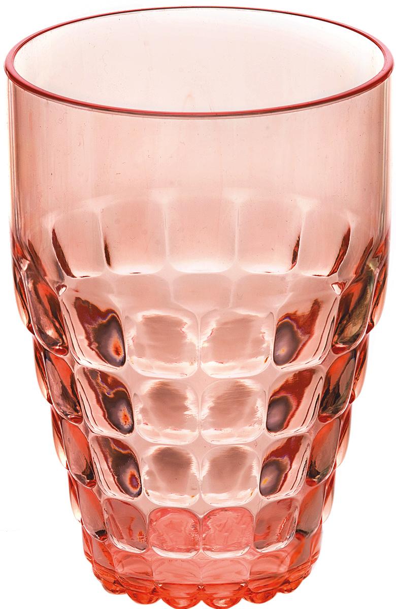 Бокал Guzzini Tiffany, цвет: коралловый, 510 мл22570123Легкий и яркий дизайн бокала Guzzini Tiffany будто намекает на освежающие лимонады, бодрящие соки и цитрусовые коктейли. Отличается конической формой и прозрачным материалом, который придает бокалу характерный блеск. Сверкающий эффект усиливается на солнечном свету, поэтому бокал станет отличным решением для подачи напитков на свежем воздухе.Бокал идеально подойдет для использования каждый день - добавит яркий акцент пространству кухни или гостиной. Изготовлен из высококачественного органического стекла, устойчивого к износу и повреждениям. Не содержит вредных примесей и бисфенола-А.Можно мыть в посудомоечной машине.Диаметр: 9 см.Высота: 13 см.