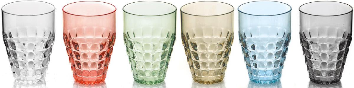 Набор бокалов Guzzini Tiffany, 510 мл, 6 шт22570352Легкий и яркий дизайн бокалов Tiffany будто намекает на освежающие лимонады, бодрящие соки и цитрусовые коктейли. Отличаются конической формой и прозрачным материалом, который придает бокалам характерный блеск. Сверкающий эффект усиливается на солнечном свету, поэтому набор бокалов станет отличным решением для подачи напитков на свежем воздухе.Идеально подойдут для использования каждый день - добавят яркий акцент пространству кухни или гостиной. Изготовлены из высококачественного органического стекла, устойчивого к износу и повреждениям.Не содержат вредных примесей и бисфенола-А. Можно мыть в посудомоечной машине.