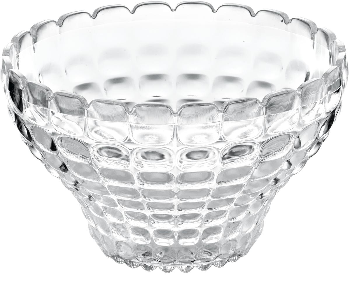 Пиала Guzzini Tiffany, цвет: прозрачный, 300 мл22580000Универсальную пиалу Tiffany можно использовать для подачи варенья, джемов, мёда и других сладостей, а также для сыпучих продуктов, таких, как сахар, орехи, драже и конфеты. Идеально подходит для сервировки на свежем воздухе - рельефная форма пиалы в сочетании с прозрачным материалом заставляет поверхность сверкать и переливаться на свету.Объем - 300 мл. Изготовлена из высококачественного органического стекла, устойчивого к износу и повреждениям. Не содержат вредных примесей и бисфенола-А. Можно мыть в посудомоечной машине.