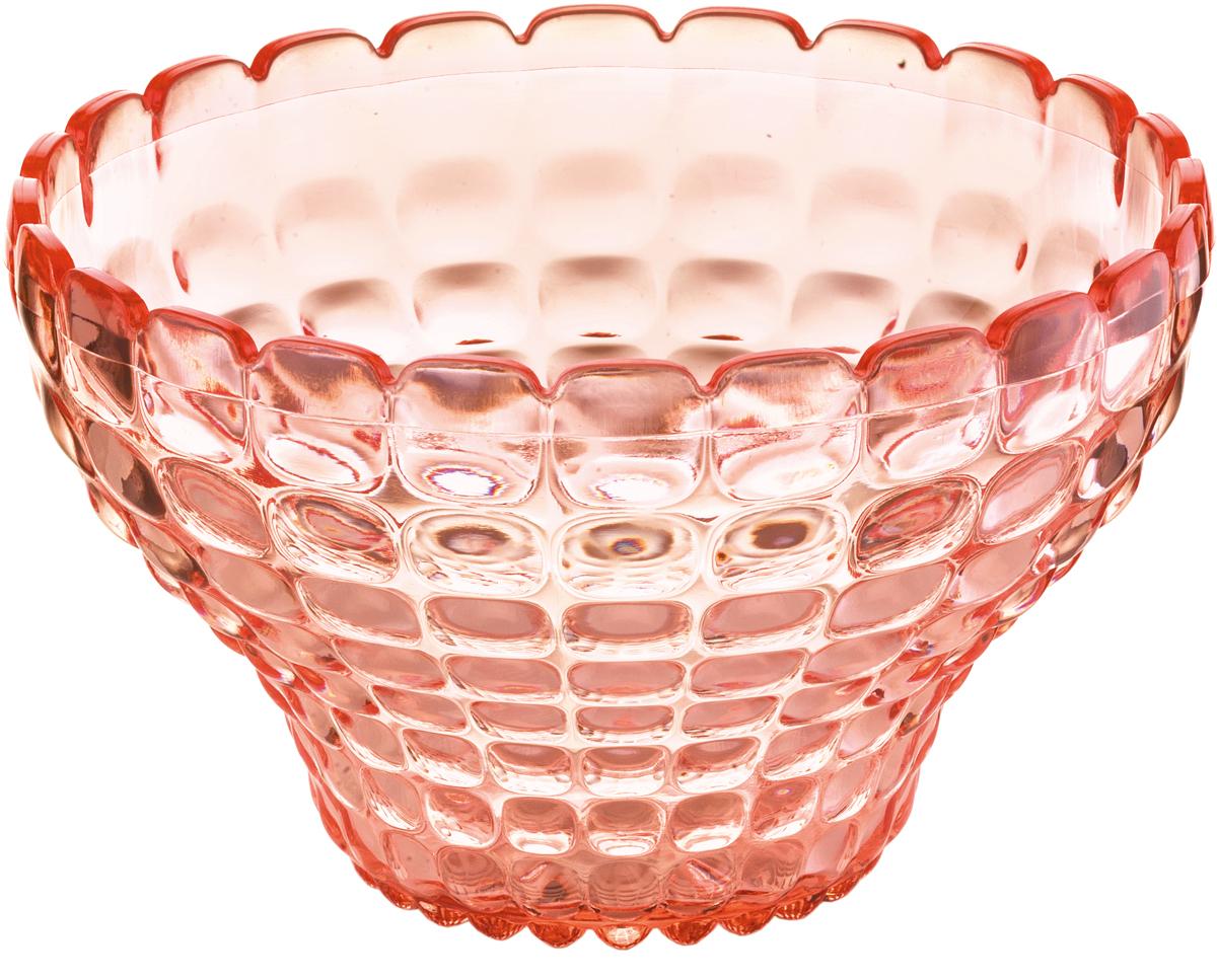 Пиала Guzzini Tiffany, цвет: коралловый, 300 мл22580023Универсальную пиалу Tiffany можно использовать для подачи варенья, джемов, мёда и других сладостей, а также для сыпучих продуктов, таких, как сахар, орехи, драже и конфеты. Идеально подходит для сервировки на свежем воздухе - рельефная форма пиалы в сочетании с прозрачным материалом заставляет поверхность сверкать и переливаться на свету.Объем - 300 мл. Изготовлена из высококачественного органического стекла, устойчивого к износу и повреждениям. Не содержат вредных примесей и бисфенола-А. Можно мыть в посудомоечной машине.