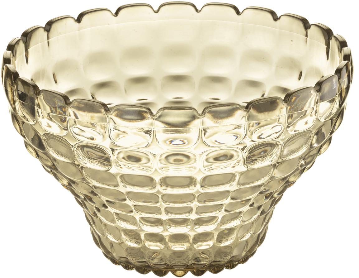 Пиала Guzzini Tiffany, цвет: песочный, 300 мл22580039Универсальную пиалу Tiffany можно использовать для подачи варенья, джемов, мёда и других сладостей, а также для сыпучих продуктов, таких, как сахар, орехи, драже и конфеты. Идеально подходит для сервировки на свежем воздухе - рельефная форма пиалы в сочетании с прозрачным материалом заставляет поверхность сверкать и переливаться на свету.Объем - 300 мл. Изготовлена из высококачественного органического стекла, устойчивого к износу и повреждениям. Не содержат вредных примесей и бисфенола-А. Можно мыть в посудомоечной машине.