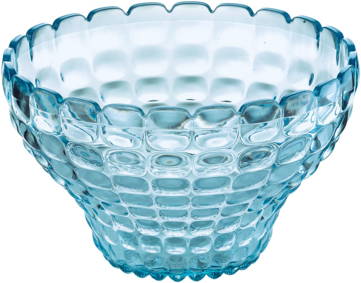 Пиала Guzzini Tiffany, цвет: голубой, 300 мл22580081Универсальную пиалу Tiffany можно использовать для подачи варенья, джемов, мёда и других сладостей, а также для сыпучих продуктов, таких, как сахар, орехи, драже и конфеты. Идеально подходит для сервировки на свежем воздухе - рельефная форма пиалы в сочетании с прозрачным материалом заставляет поверхность сверкать и переливаться на свету.Объем - 300 мл. Изготовлена из высококачественного органического стекла, устойчивого к износу и повреждениям. Не содержат вредных примесей и бисфенола-А. Можно мыть в посудомоечной машине.