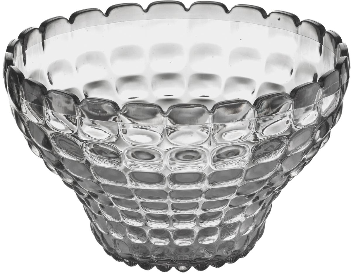 Пиала Guzzini Tiffany, цвет: серый, 300 мл22580092Универсальную пиалу Tiffany можно использовать для подачи варенья, джемов, мёда и других сладостей, а также для сыпучих продуктов, таких, как сахар, орехи, драже и конфеты. Идеально подходит для сервировки на свежем воздухе - рельефная форма пиалы в сочетании с прозрачным материалом заставляет поверхность сверкать и переливаться на свету.Объем - 300 мл. Изготовлена из высококачественного органического стекла, устойчивого к износу и повреждениям. Не содержат вредных примесей и бисфенола-А. Можно мыть в посудомоечной машине.