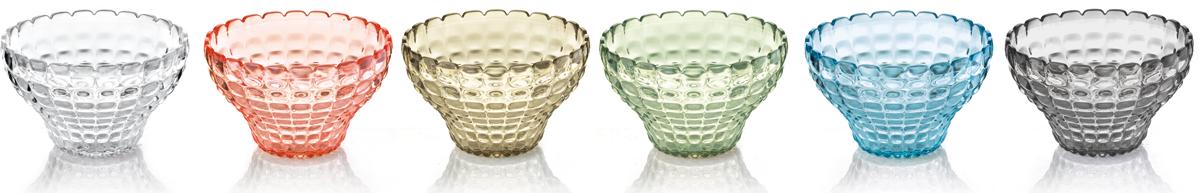 Набор пиал Guzzini Tiffany, 300 мл, 6 шт22580152Этот набор Tiffany состоит из 6 небольших универсальных пиал, которые добавят яркости вашей кухне или гостиной. Их можно использовать для подачи варенья, джемов, мёда и других сладостей. Так же подойдут для сыпучих продуктов, таких, как сахар, орехи, драже и конфеты. Прозрачный цветной материал придает поверхности пиалы характерный блеск. Сверкающий эффект усиливается на солнечном свету, поэтому весь набор станет отличным решением для сервировки на свежем воздухе.Объем каждой пиалы - 300 мл. Изготовлены из высококачественного органического стекла, устойчивого к износу и повреждениям.Не содержат вредных примесей и бисфенола-А. Можно мыть в посудомоечной машине.