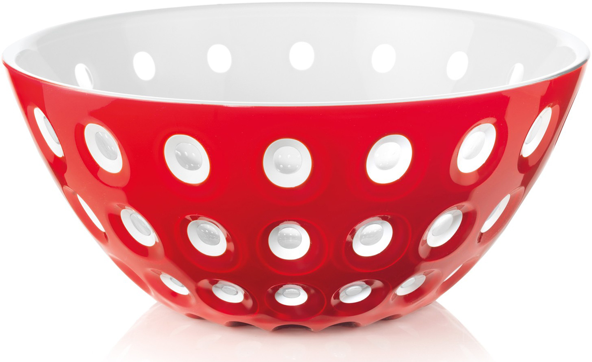 Салатник Guzzini Le Murrine, цвет: красный, белый, диаметр 25 см, 2,7 л279425147Оригинальный салатник Guzzini Le Murrine является результатом инновационного исследования Guzzini в области форм и материалов. Технология инжекторной трехцветной штамповки 3 Color Tech образует уникальный эффект, который делает салатник изысканным и неповторимым предметом для сервировки. Наложенные друг на друга три слоя пластика позволяют создавать игру цвета, чередовать плотные и прозрачные, полированные и матовые поверхности. Салатник подойдет для подачи десертов, выпечки, мороженого и других блюд, а также может служить изящным декоративным элементом вашего дома.Салатник изготовлен из безопасного высококачественного пластика, устойчивого к износу и повреждениям.