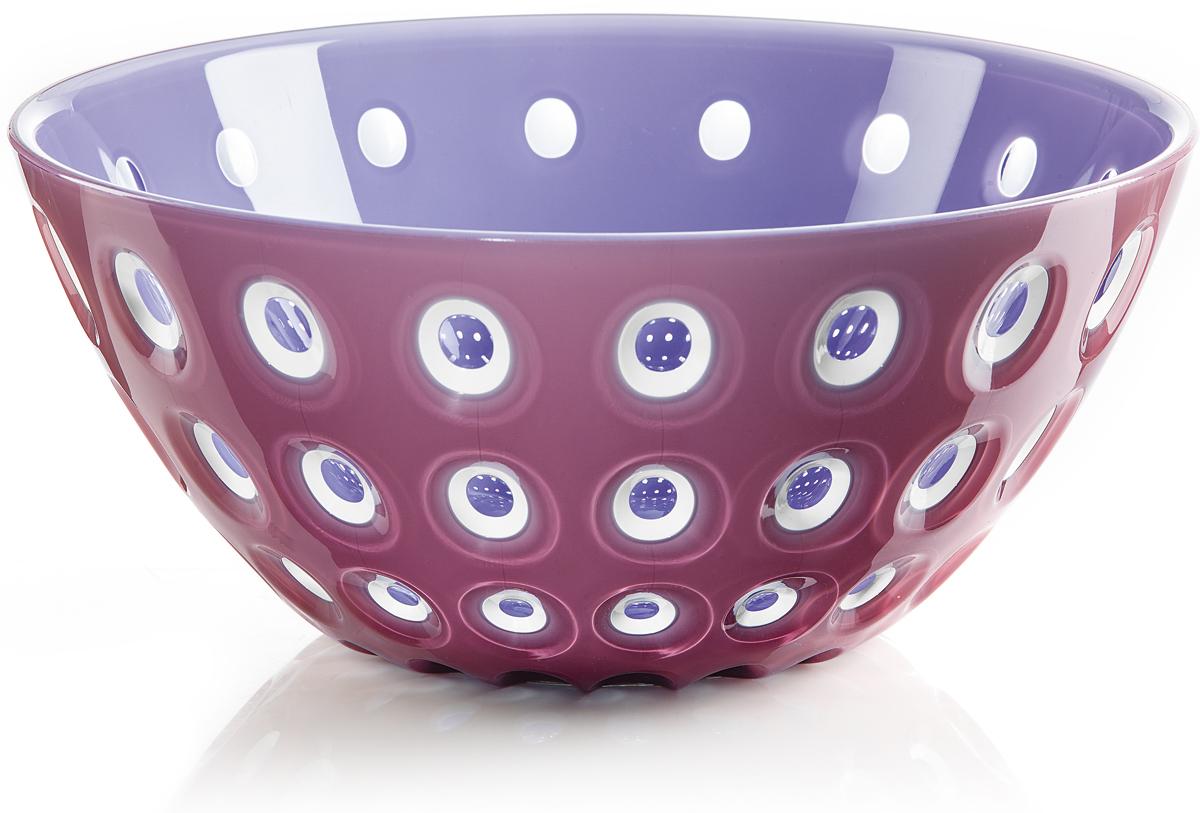 Салатница Guzzini Le Murrine, цвет: фиолетовый, 25 см, 2,7 л279425167Эта оригинальная салатница Le Murrine является результатом инновационного исследования Guzzini в области форм и материалов. Технология инжекторной трехцветной штамповки 3 Color Tech образует уникальный эффект, который делает салатницу изысканным и неповторимым предметом для сервировки. Наложенные друг на друга три слоя пластика позволяют создавать игру цвета, чередовать плотные и прозрачные, полированные и матовые поверхности.Салатница подойдет для подачи десертов, выпечки, мороженого и других блюд, а так же может служить изящным декоративным элементом вашего дома. Объем 2,7 л. Изготовлена из безопасного высококачественного пластика, устойчивого к износу и повреждениям. Можно мыть в посудомоечной машине.
